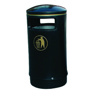 Outdoor Hooded Top Bin 75 Litre Victorian