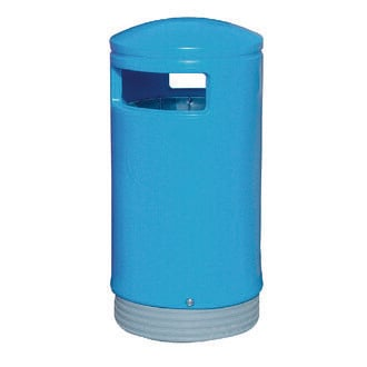 Outdoor Hooded Top Bin 100 Litre Blue