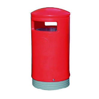 Outdoor Hooded Top Bin 100 Litre Red
