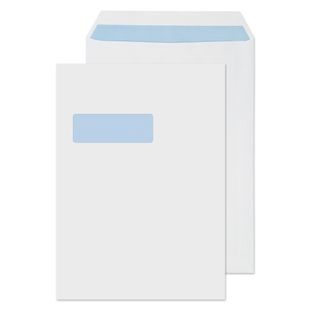 C4 Window Pocket Self Seal Envelopes White 90gsm