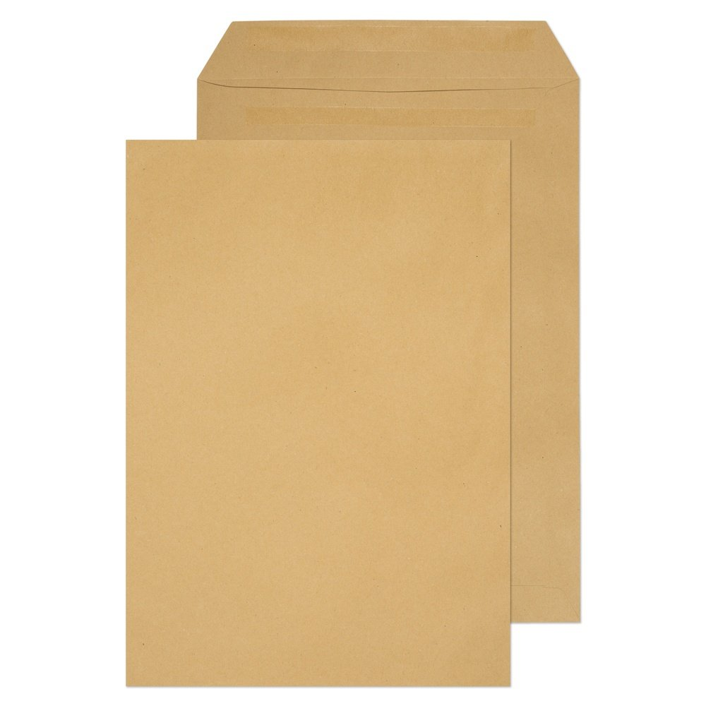 C4 Non-Window Pocket Self Seal Envelopes Manilla 80gsm