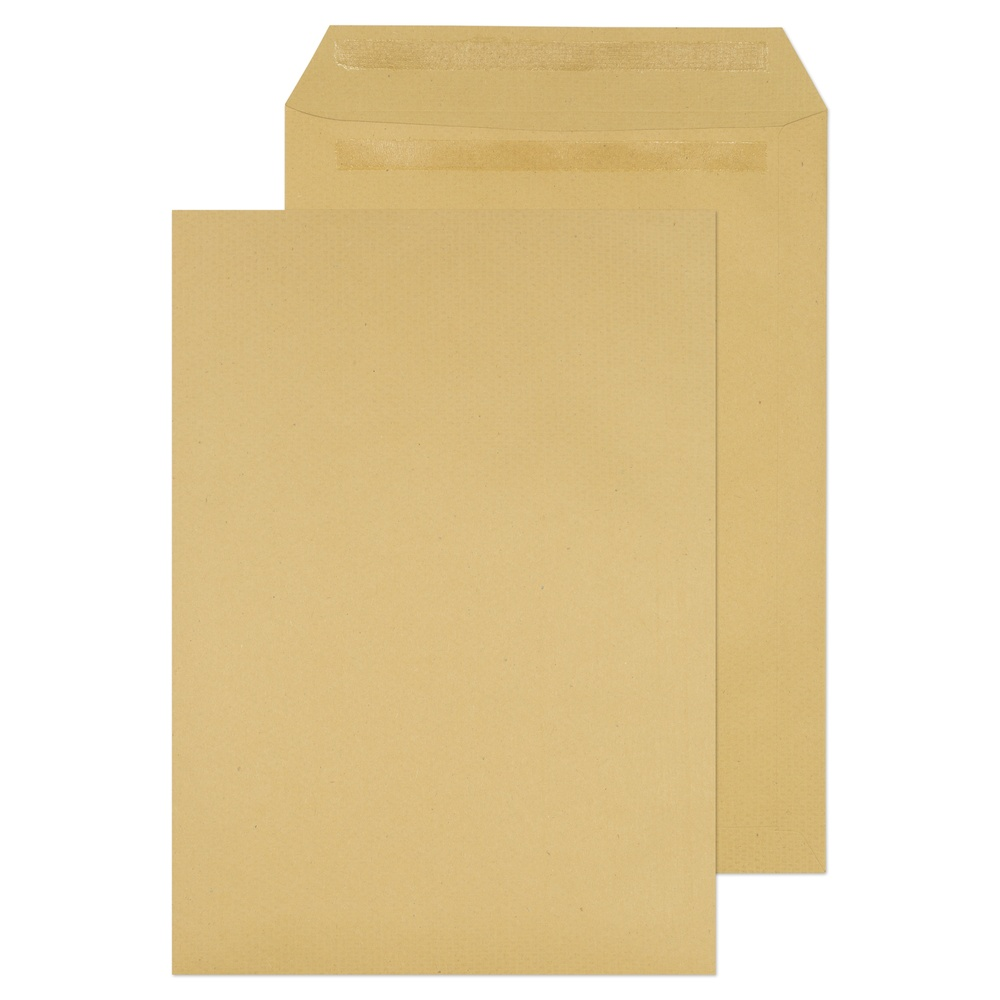 C4 Non-Window Pocket Self Seal Envelopes Manilla 115gsm
