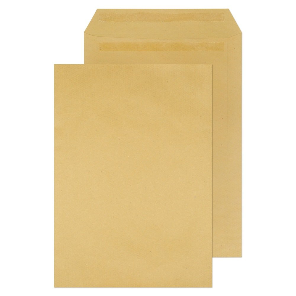 15 X 10 Non-Window Pocket Self Seal Envelopes Manilla 115gsm