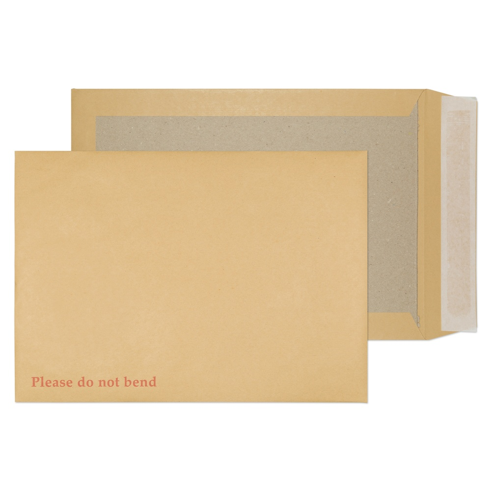 C4 Hard Back Envelopes Peel & Seal Manilla