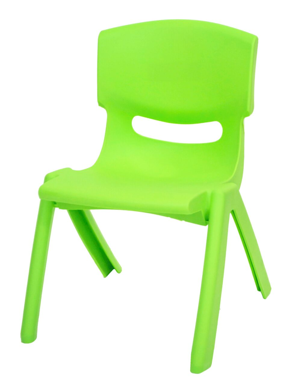 Stackable Children's Plastic Chairs Green
