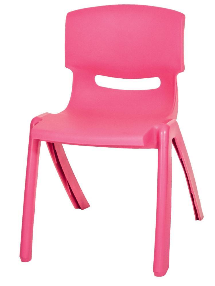 Stackable Children's Plastic Chairs Pink