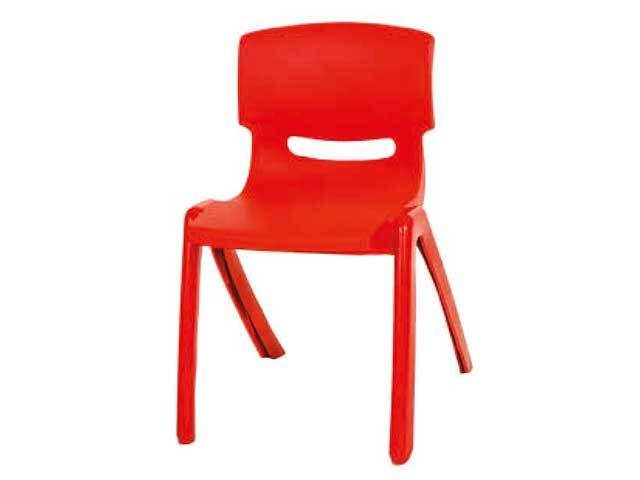 Stackable Children's Plastic Chairs Red