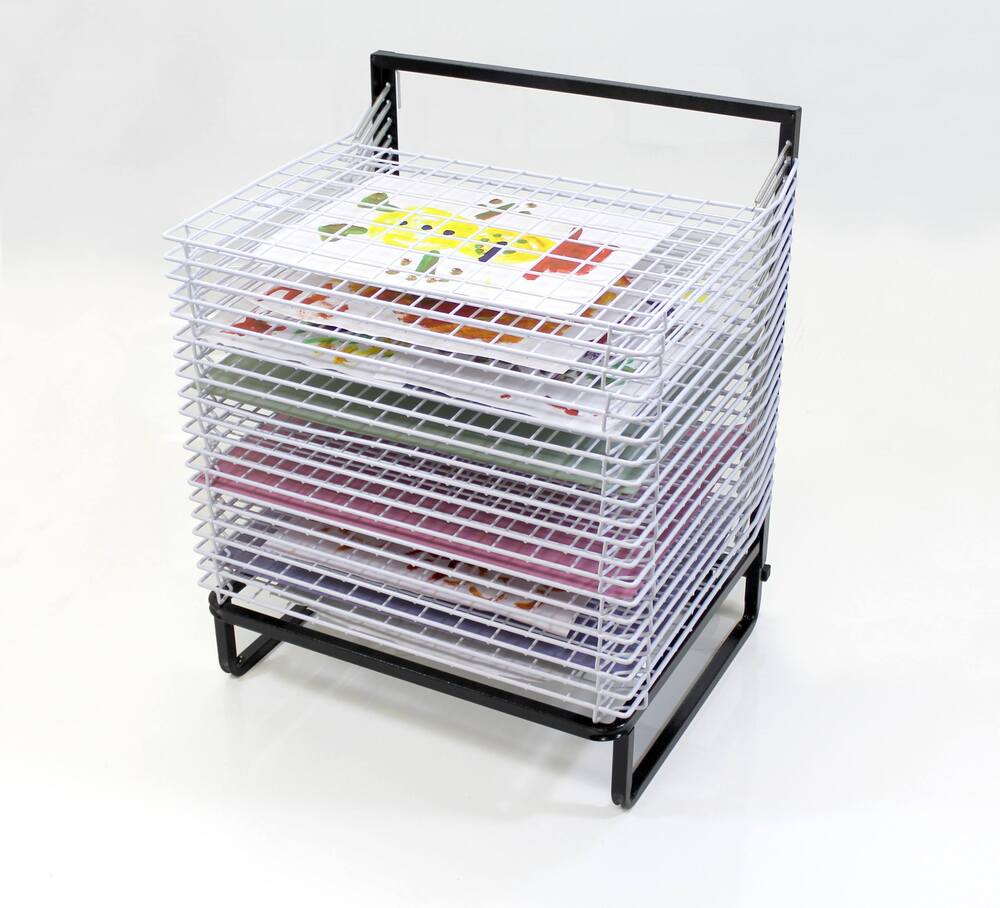 20 Shelf Spring Loaded Floor Drying Rack With Wheels