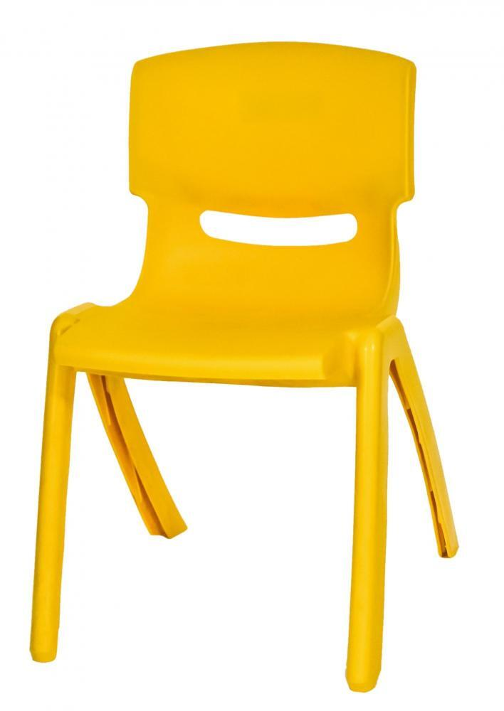 Stackable Children's Plastic Chairs Yellow