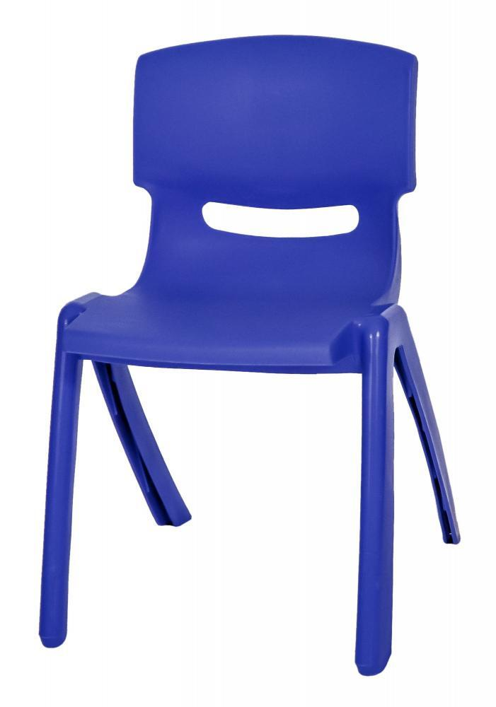 Stackable Children's Plastic Chairs Blue