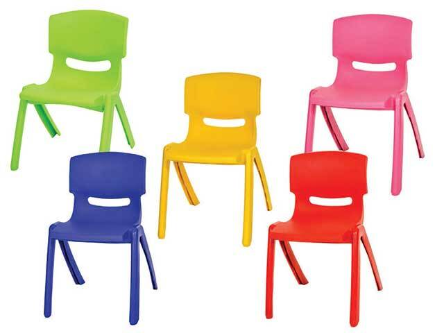 Stackable Children's Plastic Chairs Assorted