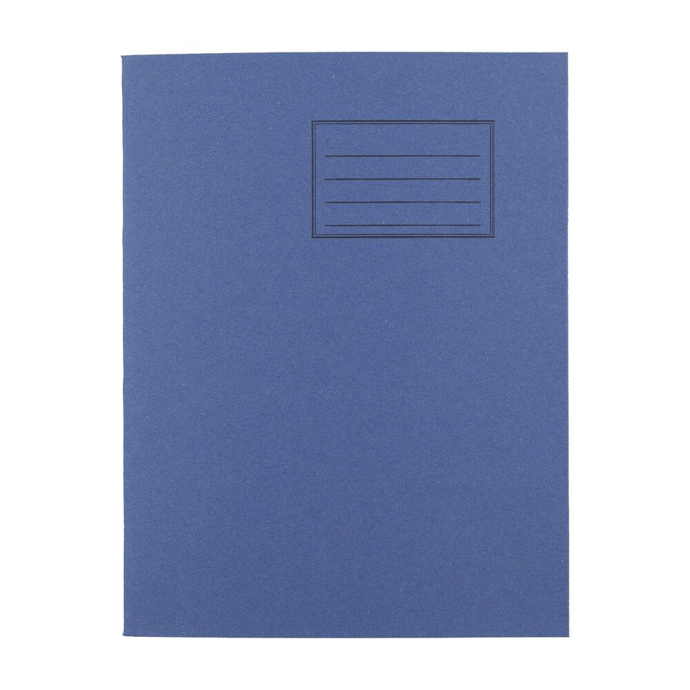 Exercise Books 9 X 7 80 Page 8mm F&M Dark Blue
