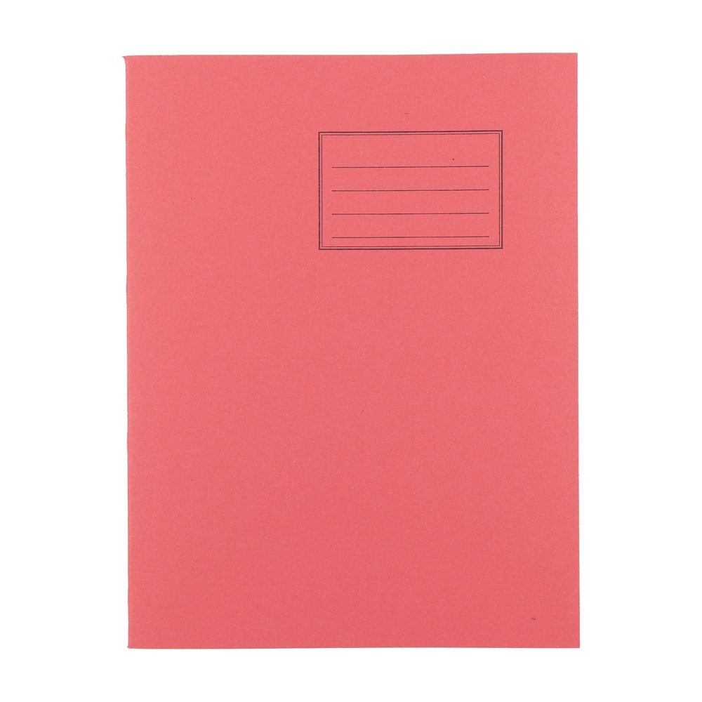 Exercise Books 9 X 7 80 Page 8mm F&M Red