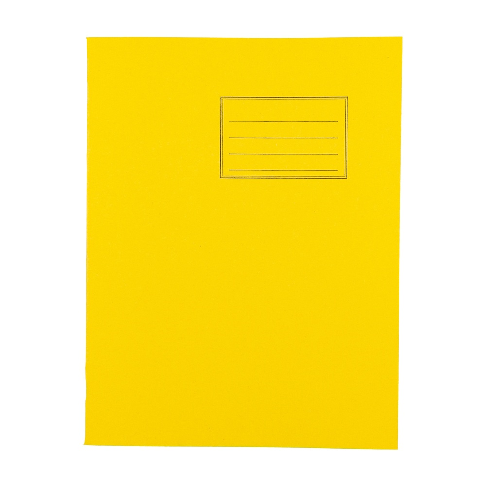 Exercise Books 9 X 7 80 Page 8mm F&M Yellow