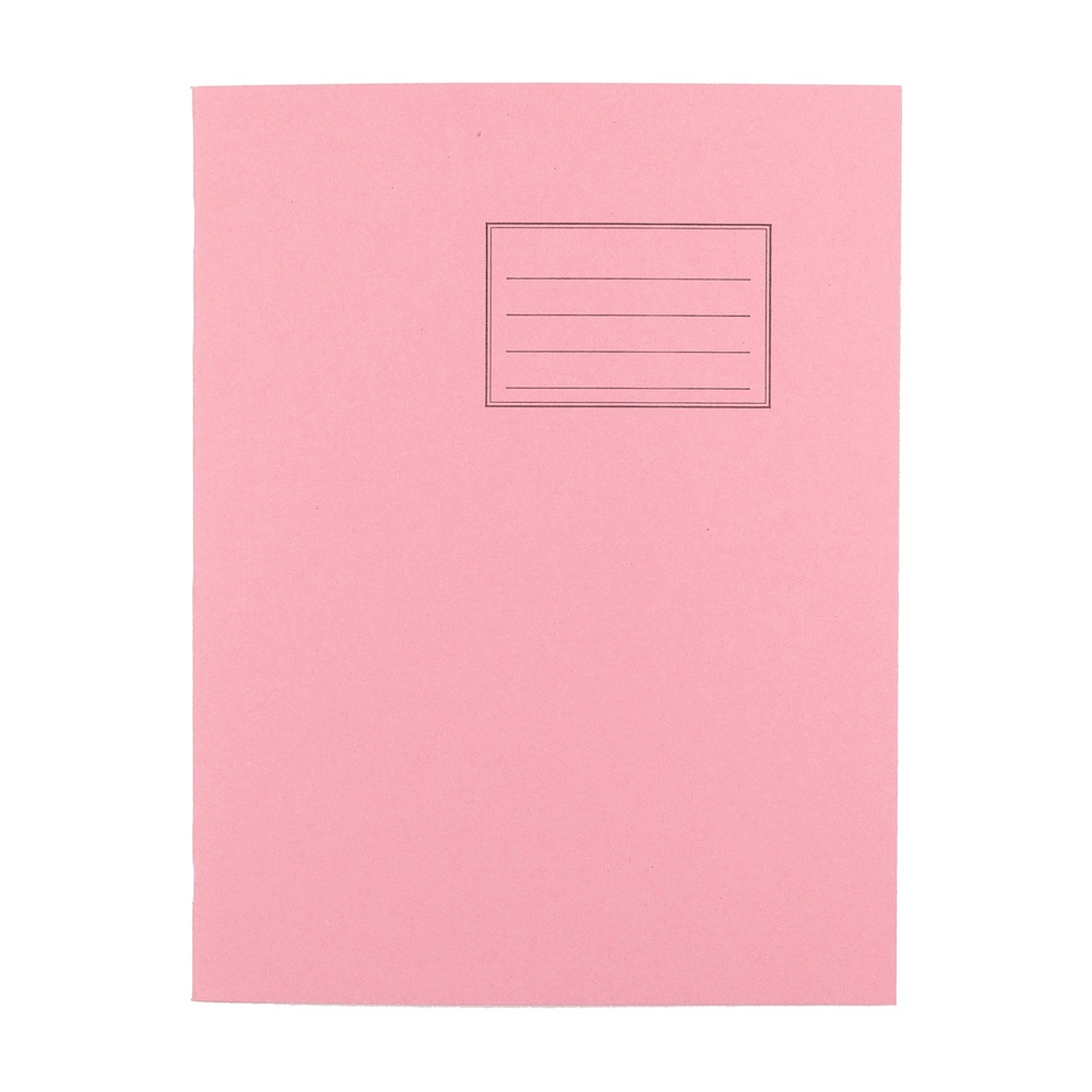 Exercise Books 9 X 7 80 Page 8mm F&M Pink