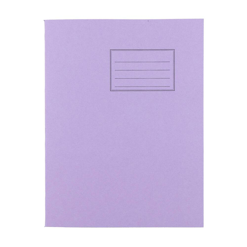 Exercise Books 9 X 7 80 Page 8mm F&M Purple