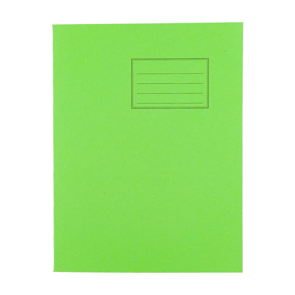 Exercise Books 9 X 7 80 Page 8mm F&M Light Green