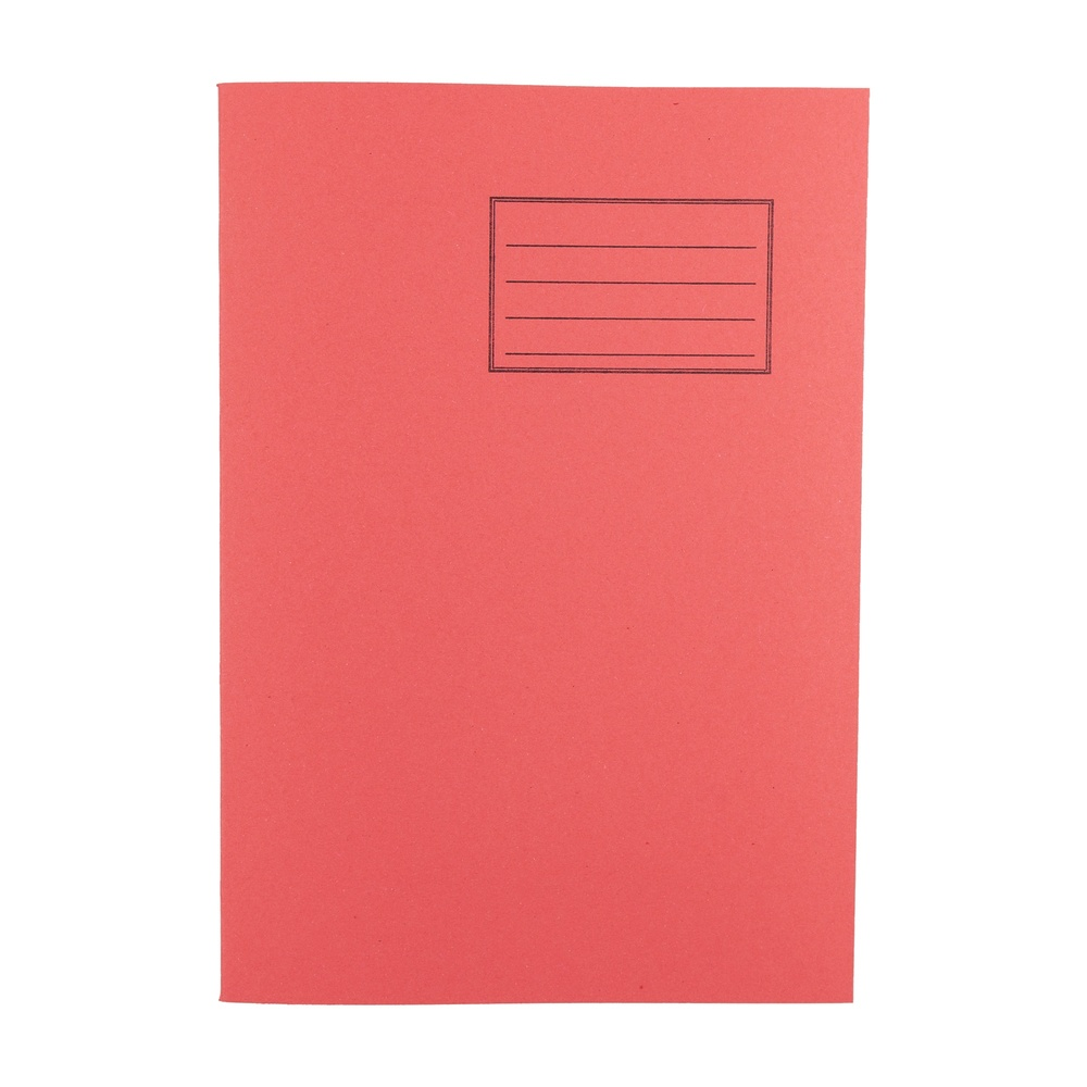 Exercise Books A4 80 Page 8mm F&M Red