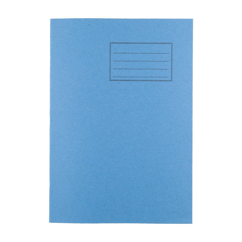 Exercise Books A4 80 Page 10mm Squared Light Blue