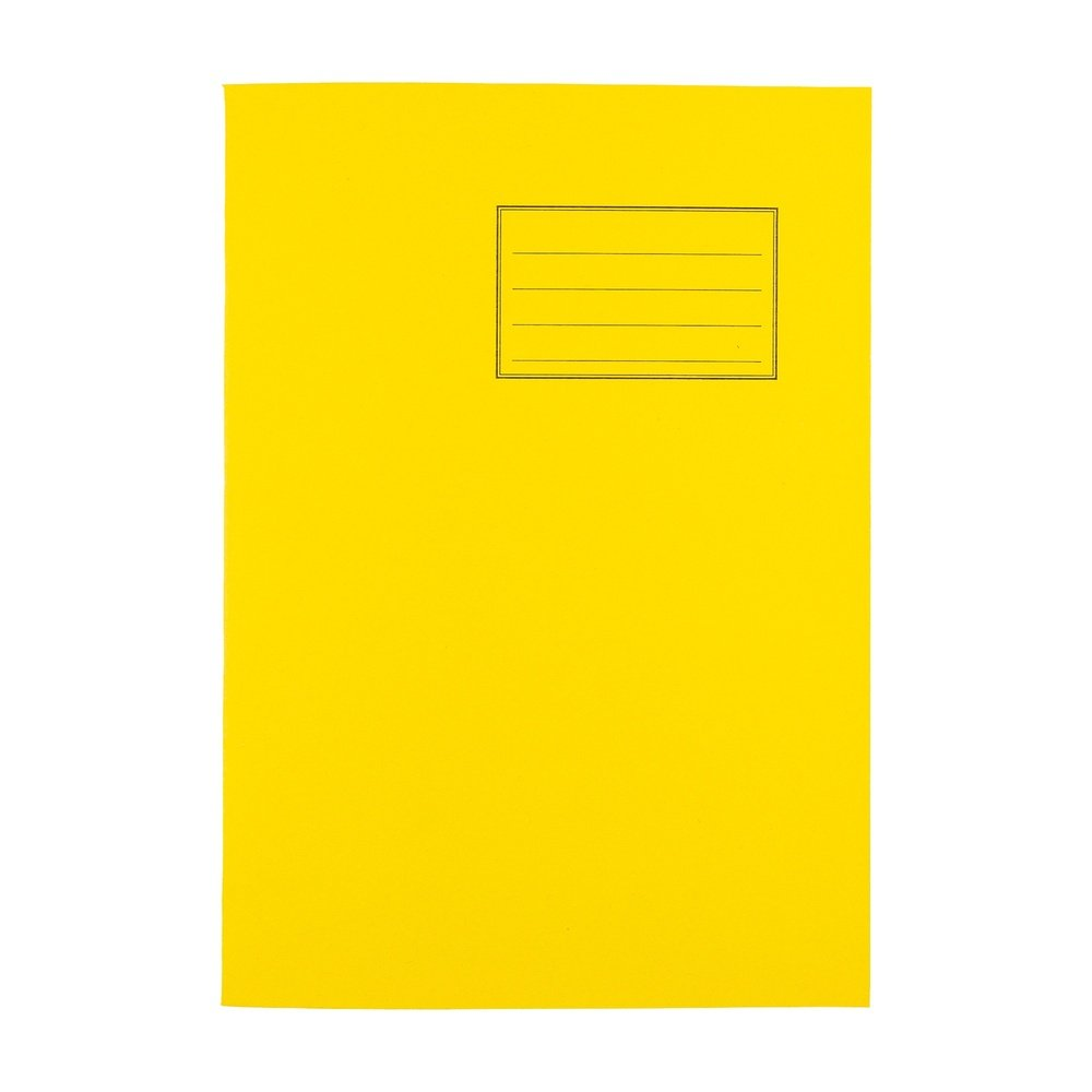 Exercise Books A4 80 Page 8mm F&M Yellow