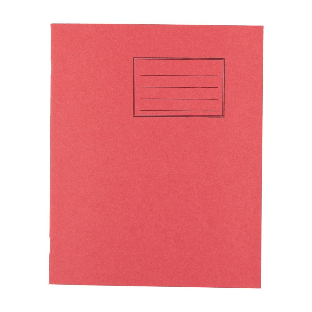 Exercise Books 8 X 6.5 48 Page 8mm F&M Red
