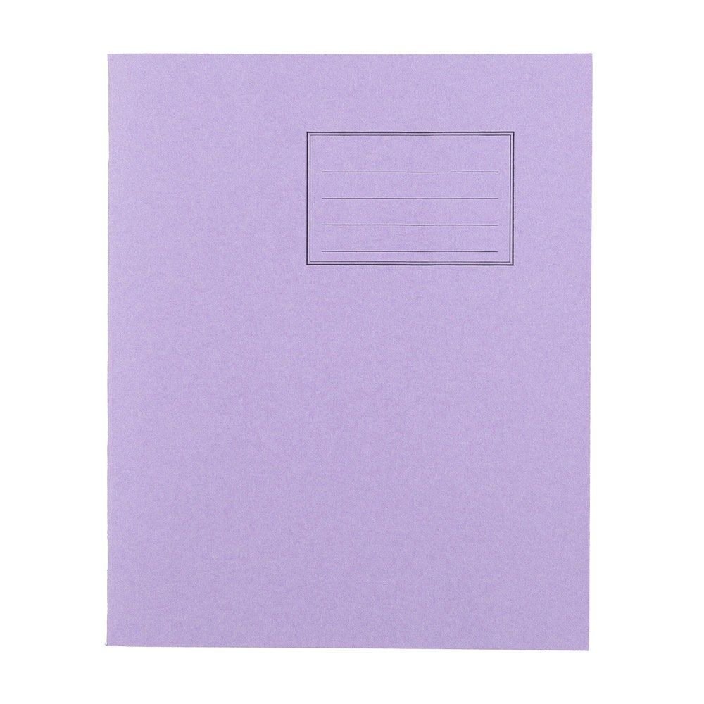 Exercise Books 8 X 6.5 48 Page 8mm F&M Purple