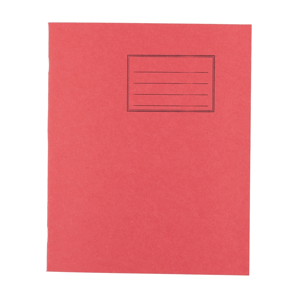 Exercise Books 8 X 6.5 80 Page 8mm F&M Red