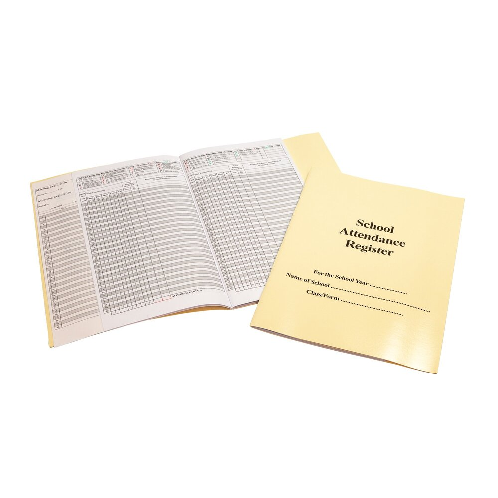 Attendance Register 46 Page with Cream Cover