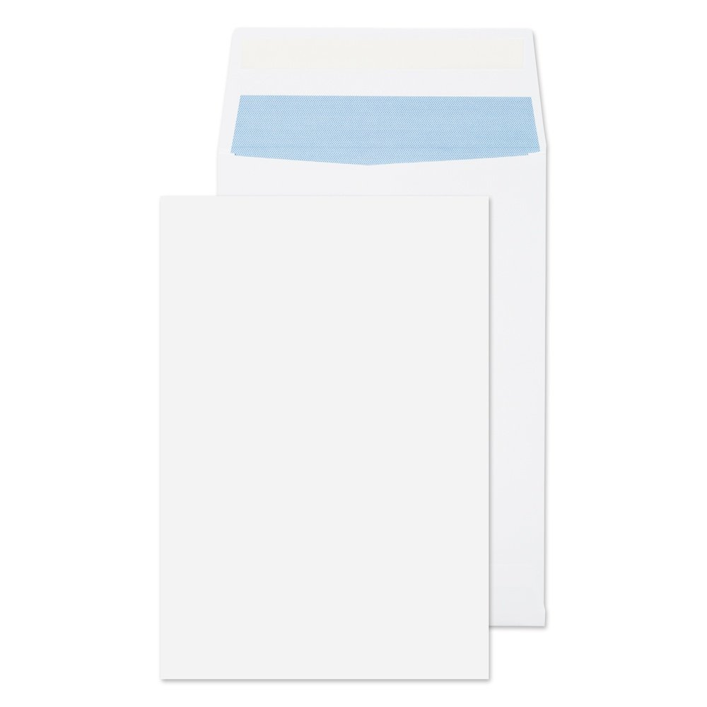 C4 Gusset Non-Window Envelopes Peel & Seal White