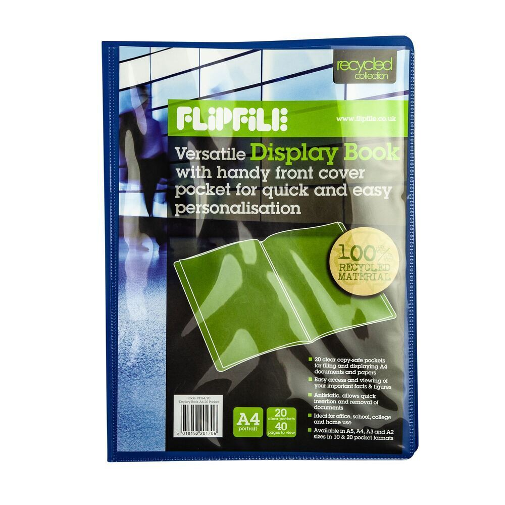 Flexible A4 Presentation Display Book 20 Pocket