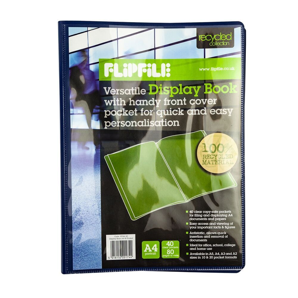Flexible A4 Presentation Display Book 40 Pocket
