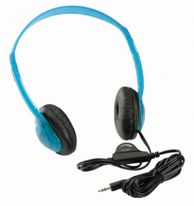 Stereo Headphones With Line Volume Control Blueberry