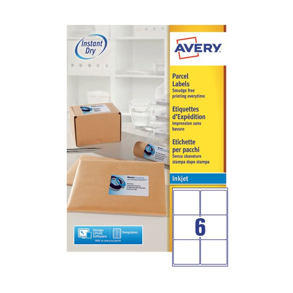Avery Inkjet Labels - 6 Per Sheet J8166