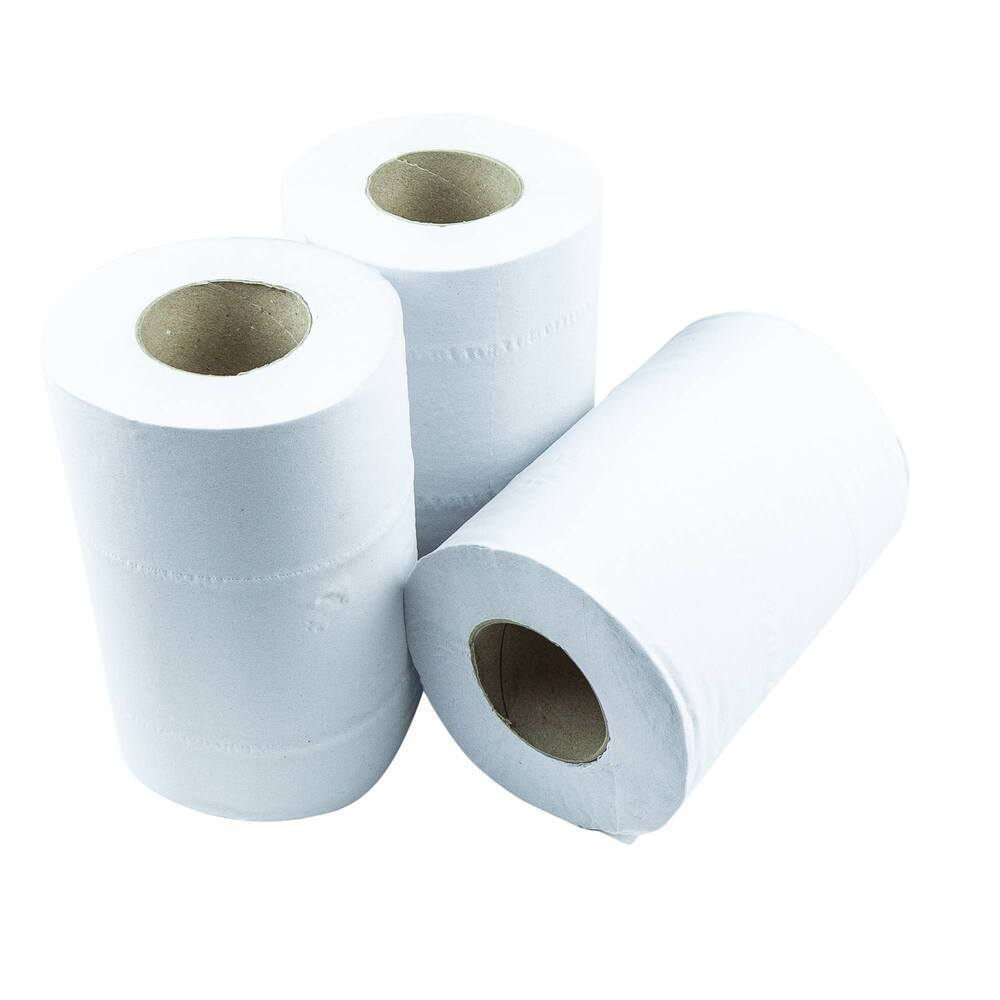 BlueOcean 2 Ply Mini Centrefeed White Rolls