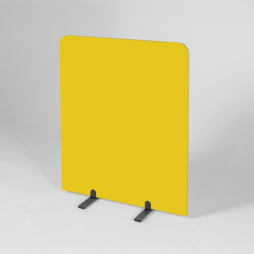 BusyScreen Curve screen - 1200 x 1000mm (HxW) - Yellow