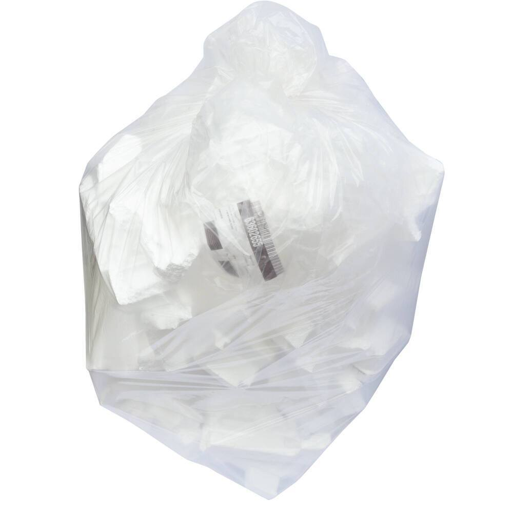 Clear Refuse Sack Medium Duty 457/725 X 975mm 120 Gauge 90 Litre Flat Packed