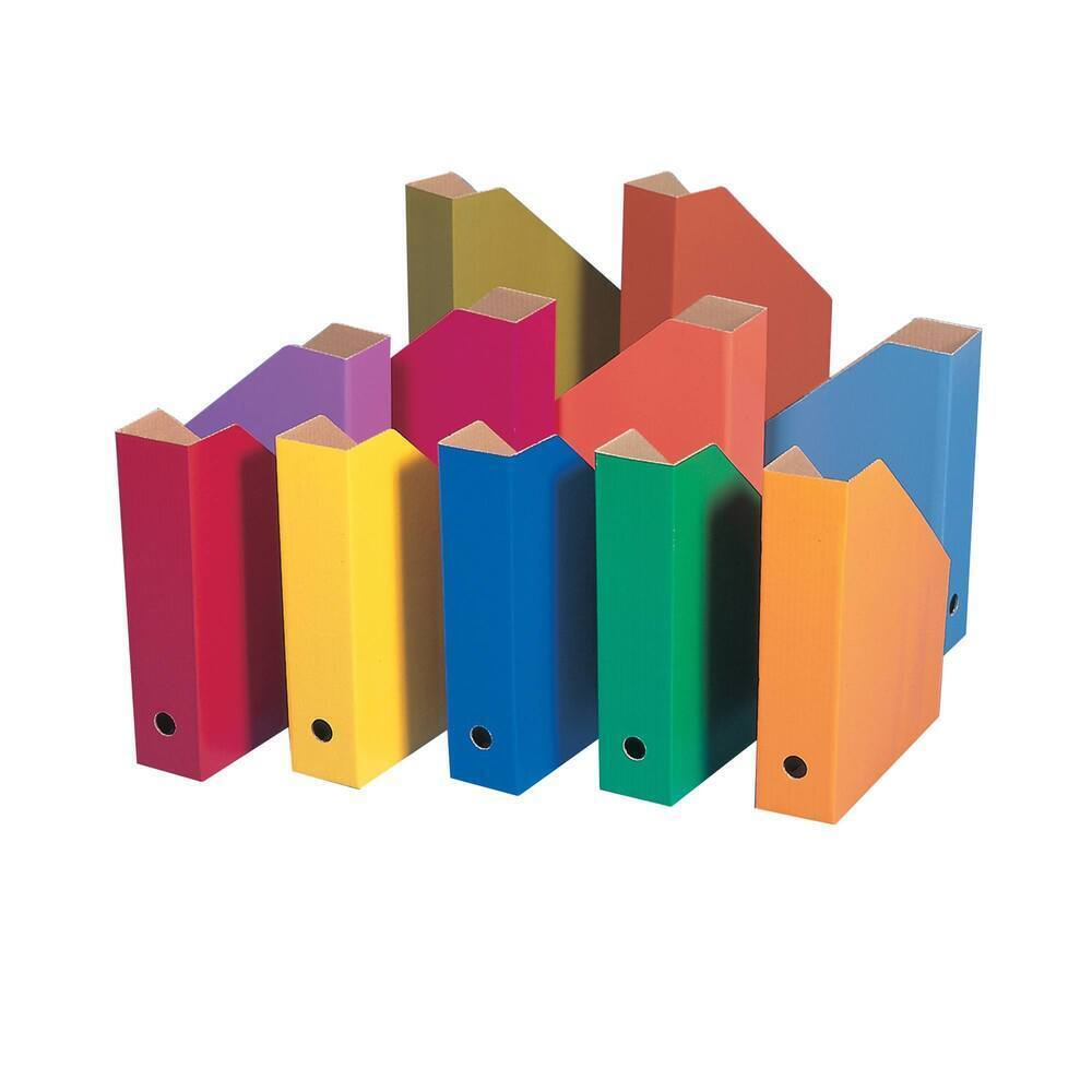 Colour Filing Boxes Assorted Colours - CFBASS