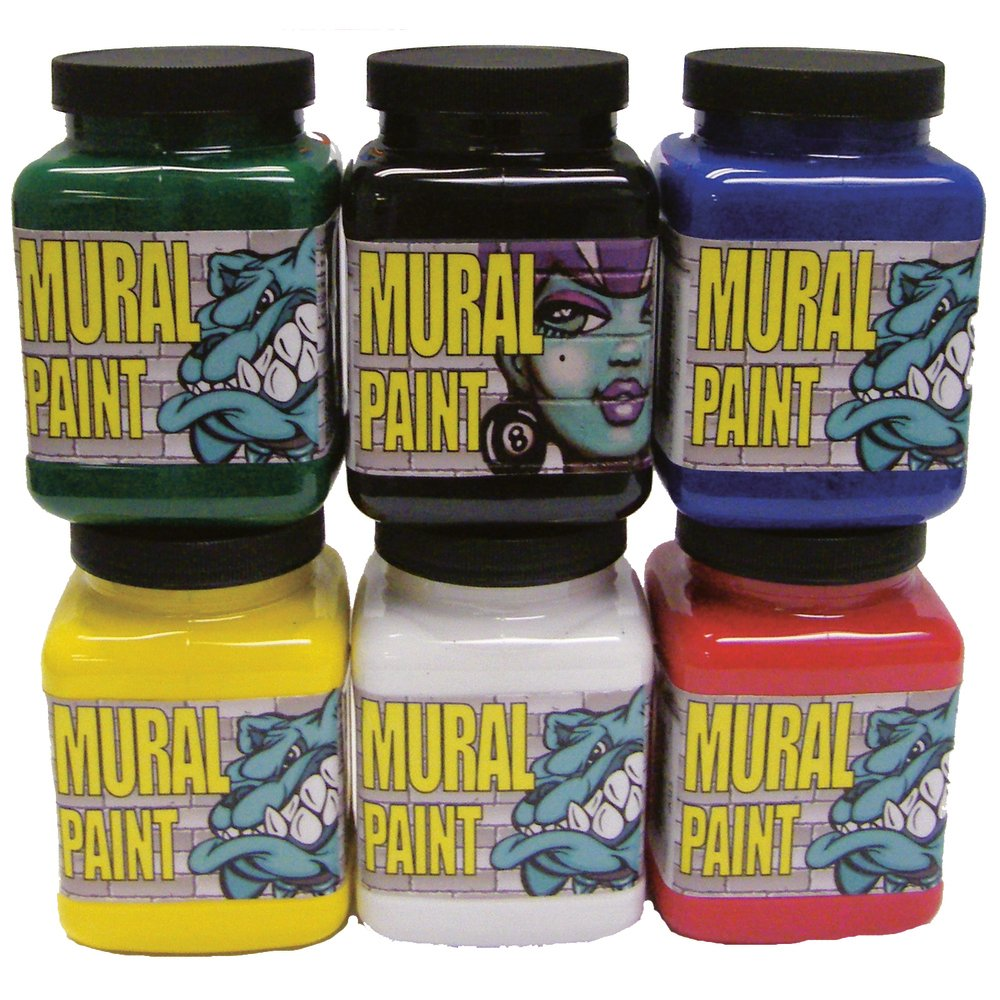 Mural Paint Set, 500ml Primary Colours