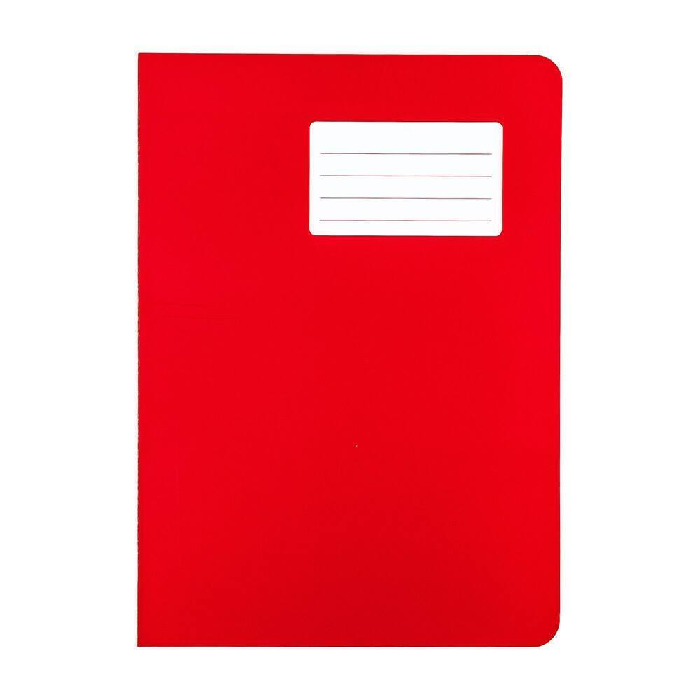 Durabook Exercise Books A4 80 Page 8mm F&M Red