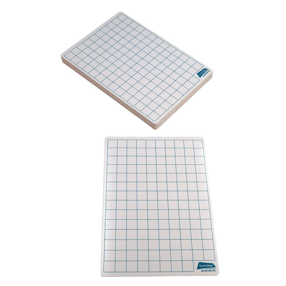 Literacy And Numeracy Drywipe Board A4 Gridded