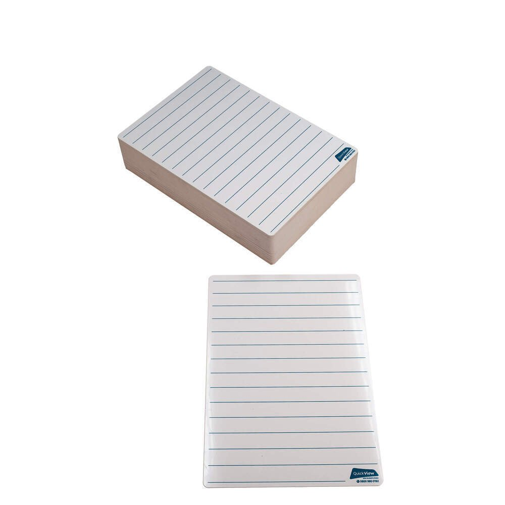 Literacy And Numeracy Drywipe Board A4 Line Bulk