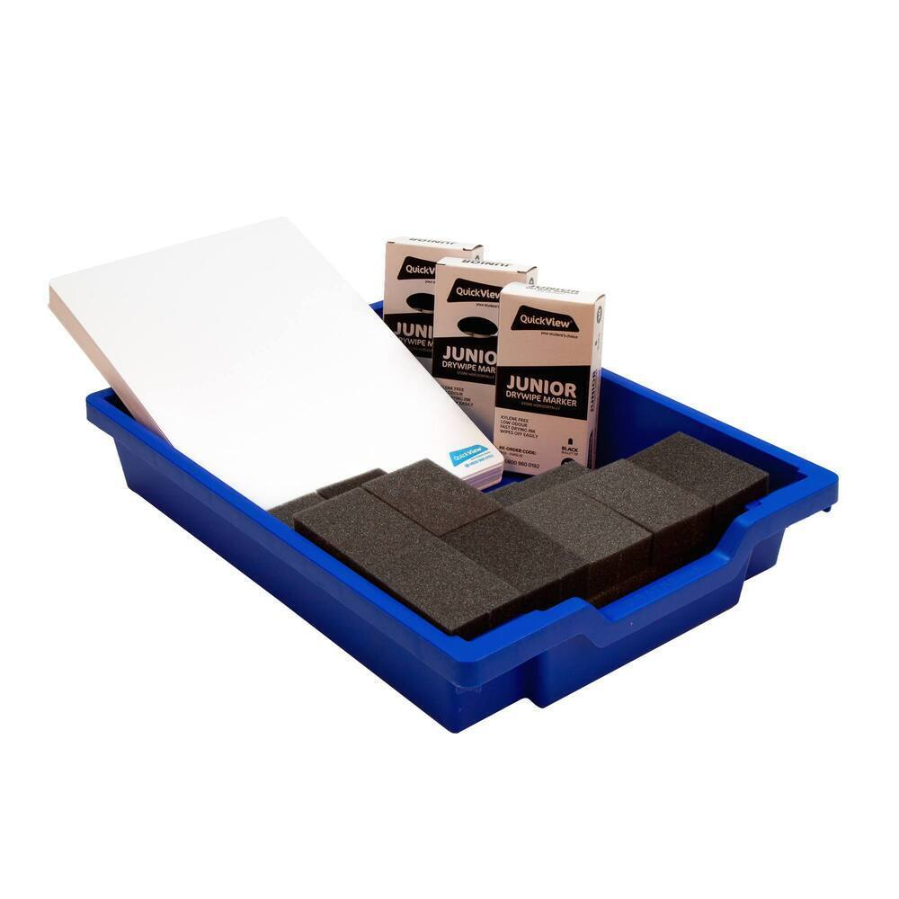 Classpack Dry Wipe Boards/Pens/Erasers Plain (30 of each) in Tray