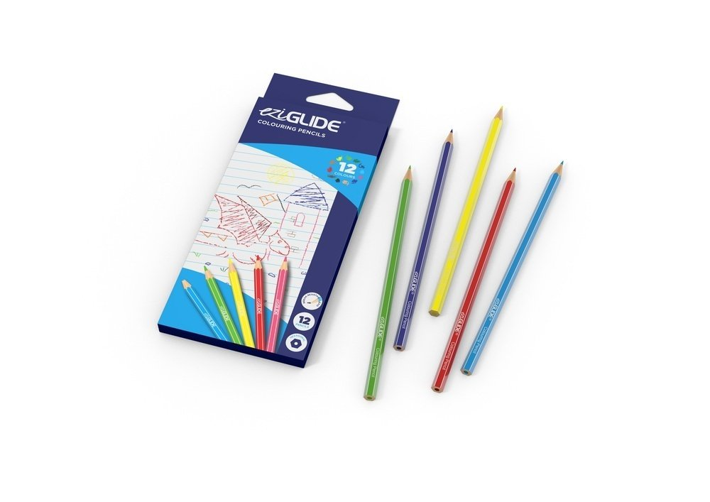 EziGlide School Colouring Pencils