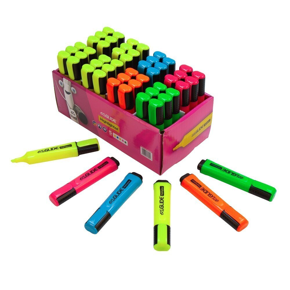 EziGlide Highlighter Markers Assorted Bulk Box