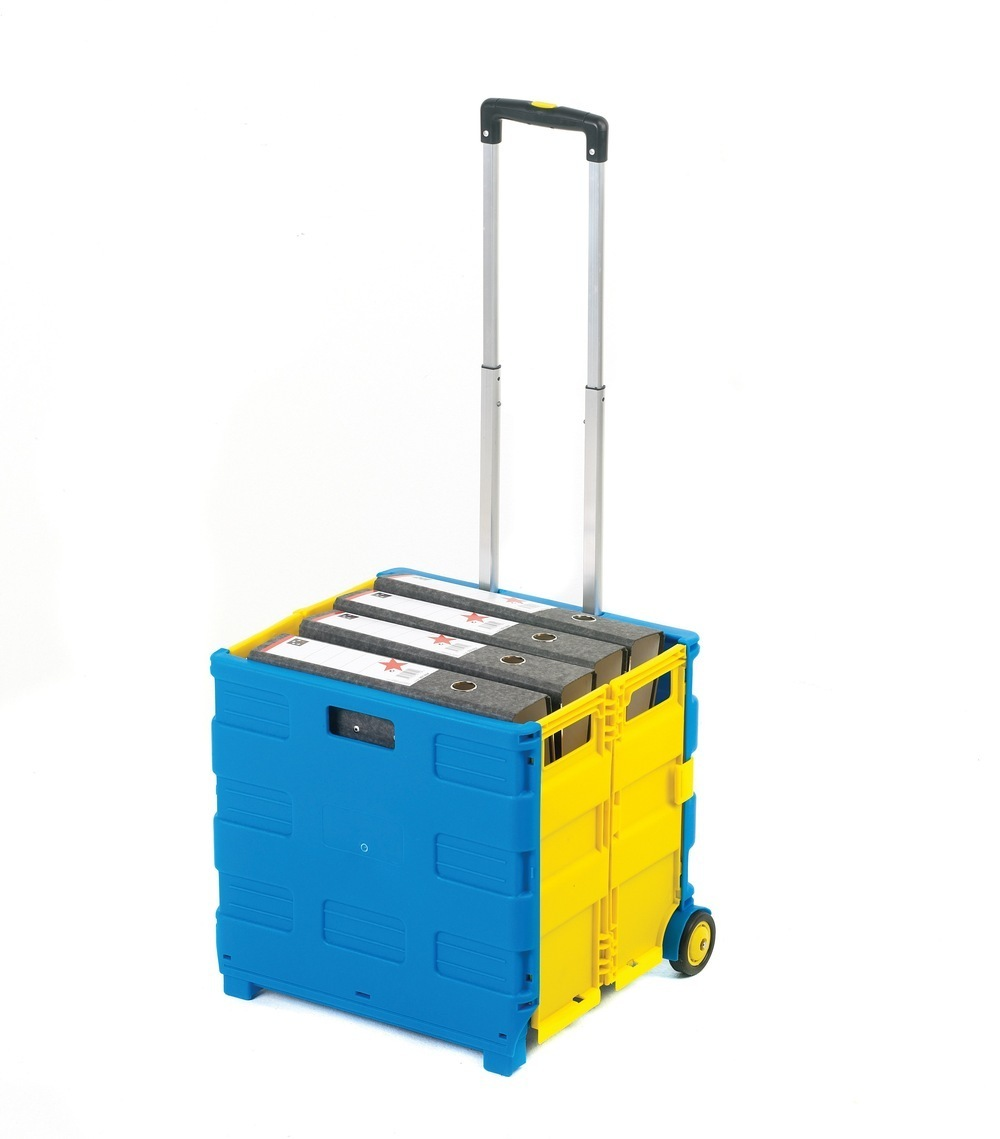 Folding Box Truck 990 X 460 X 390mm Blue/Yellow