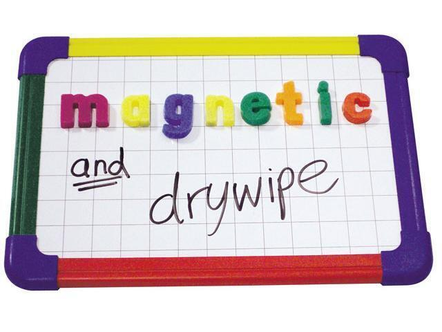 Framed Magnetic Drywipe Board Pln/Grid A3