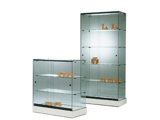 Frameless Showcases 900X460X910mm 3 Tier