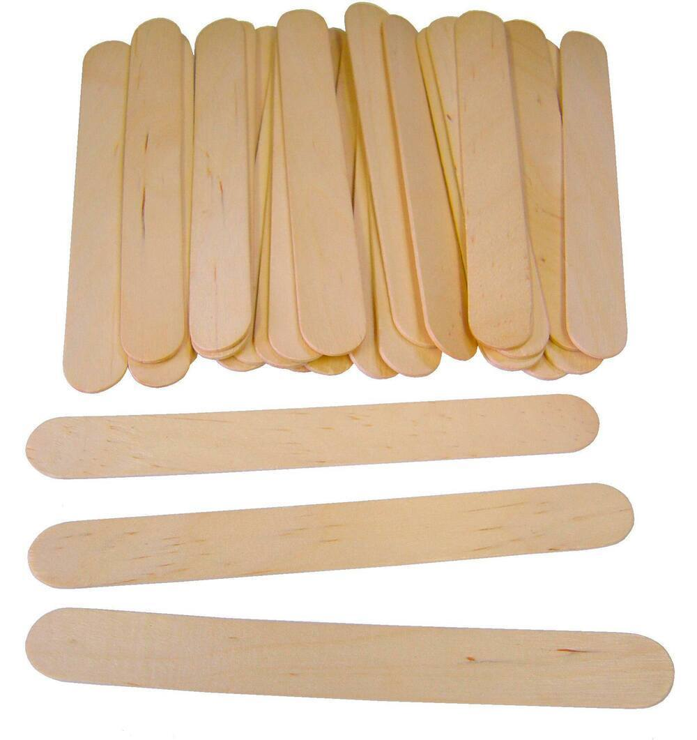 Jumbo Lollipop Sticks, Natural 150 x 19mm