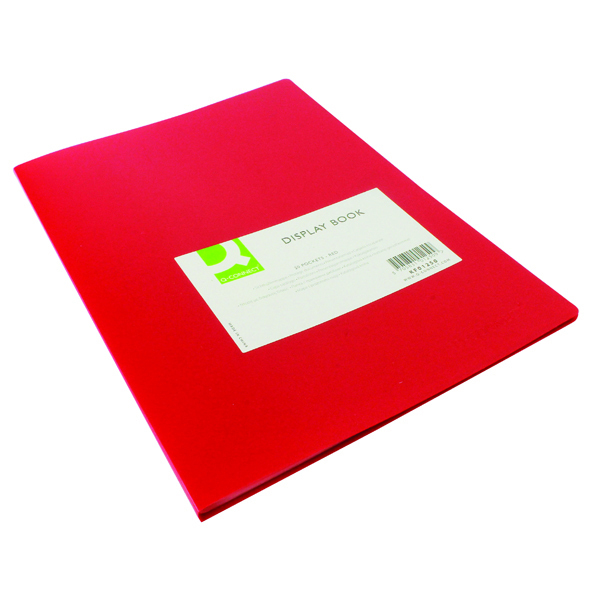 Flexible A4 Display Book 20 Pocket Red -((V))
