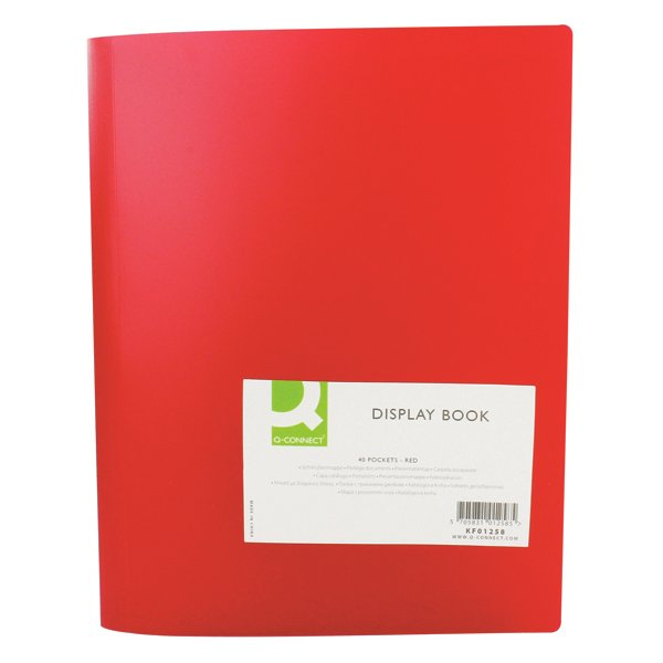Flexible A4 Display Book 40 Pocket Red -((V))